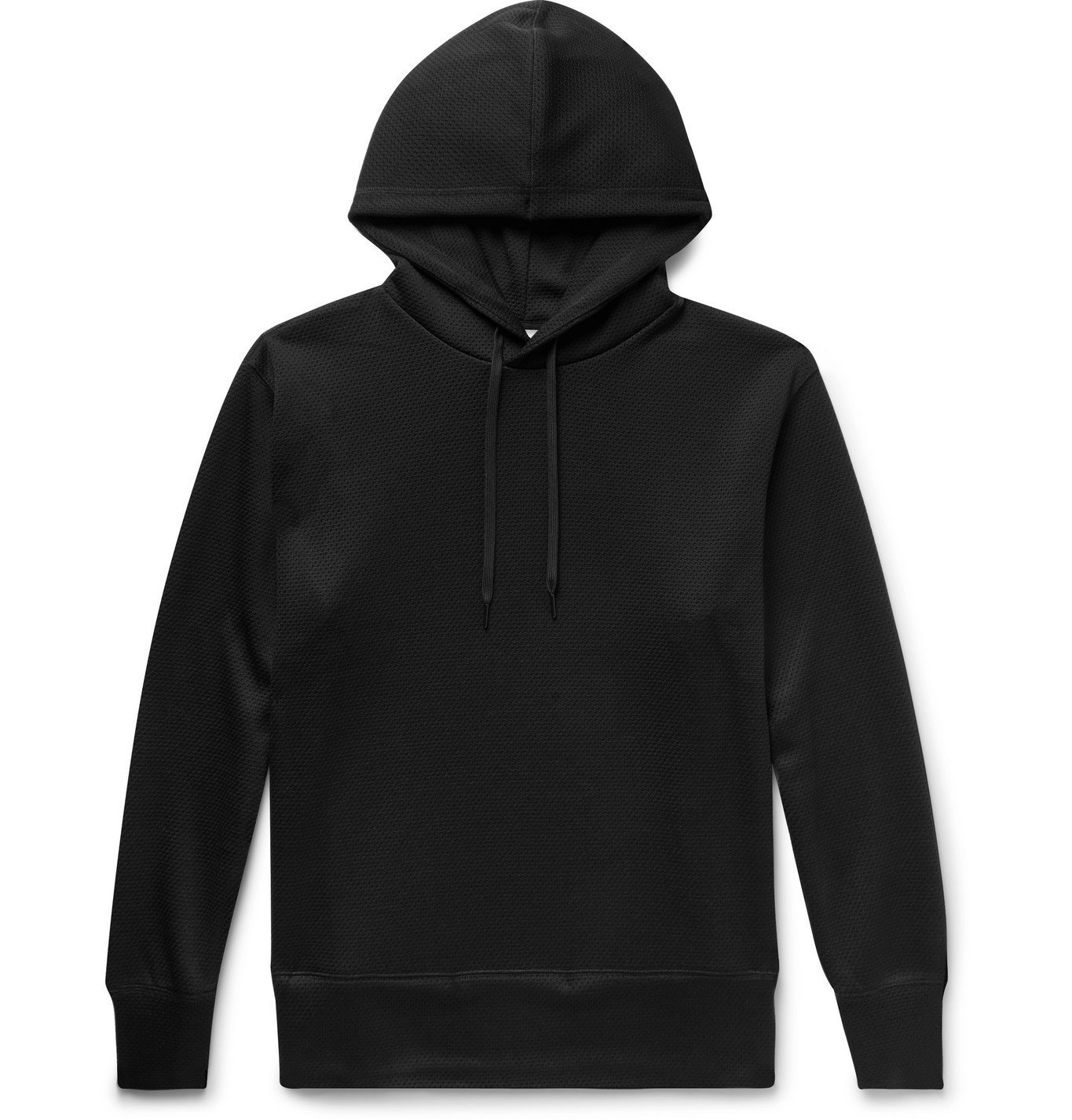 Photo: Y-3 - Logo-Appliquéd Mesh Hoodie - Black
