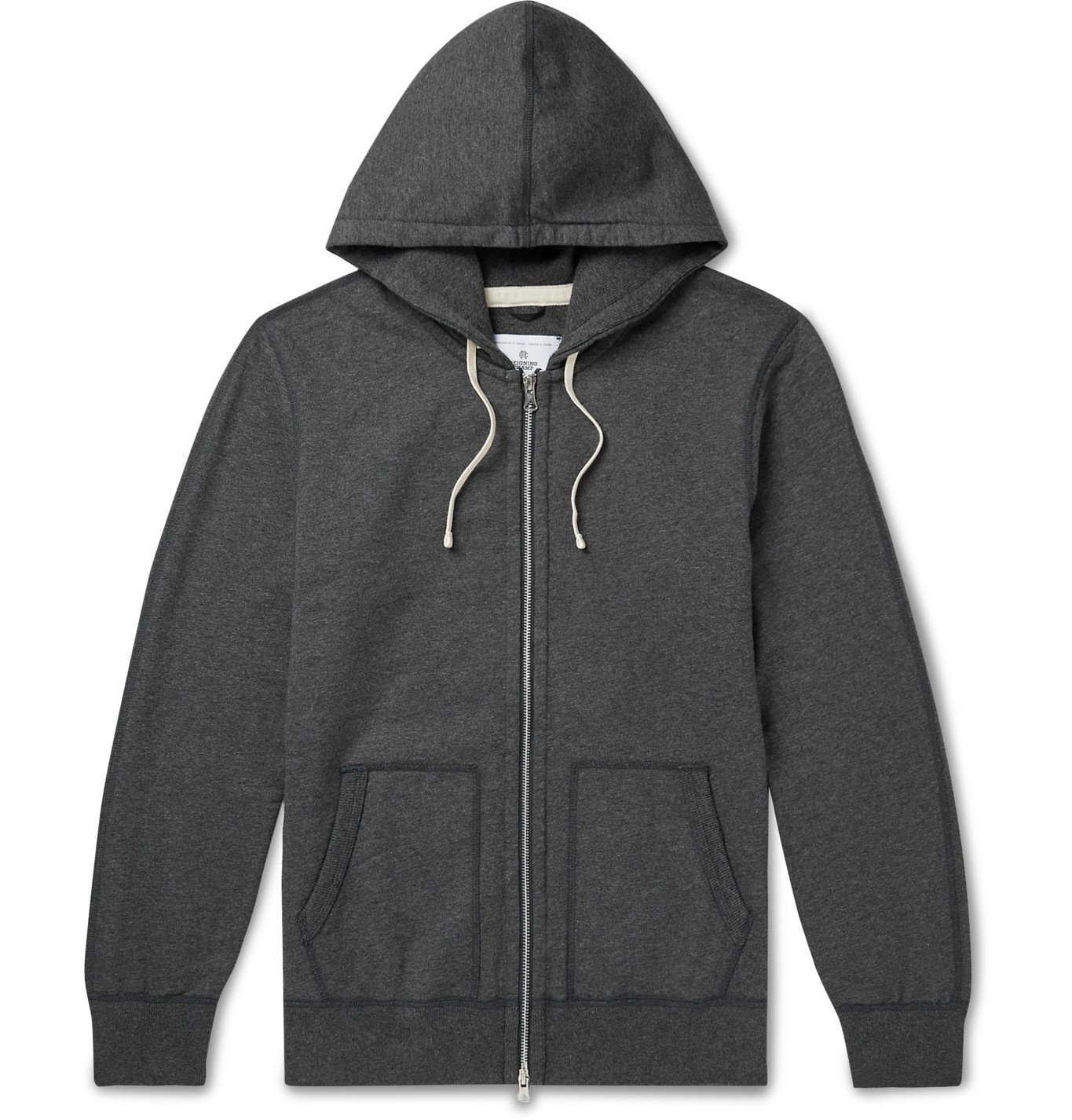 Photo: Reigning Champ - Mélange Loopback Cotton-Jersey Zip-Up Hoodie - Gray