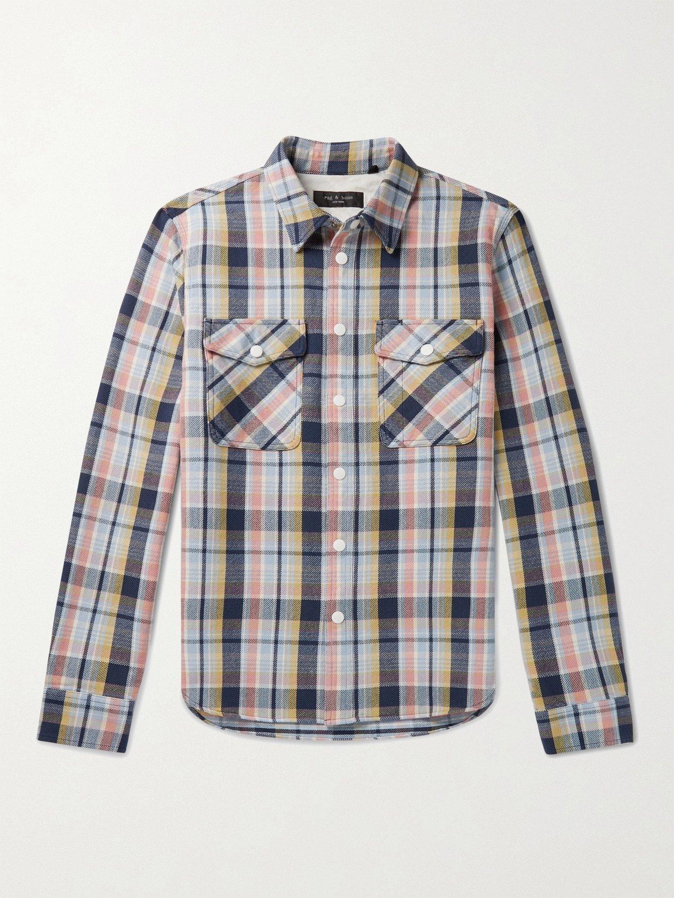 Photo: RAG & BONE - Jack Checked Cotton-Twill Shirt Jacket - Pink