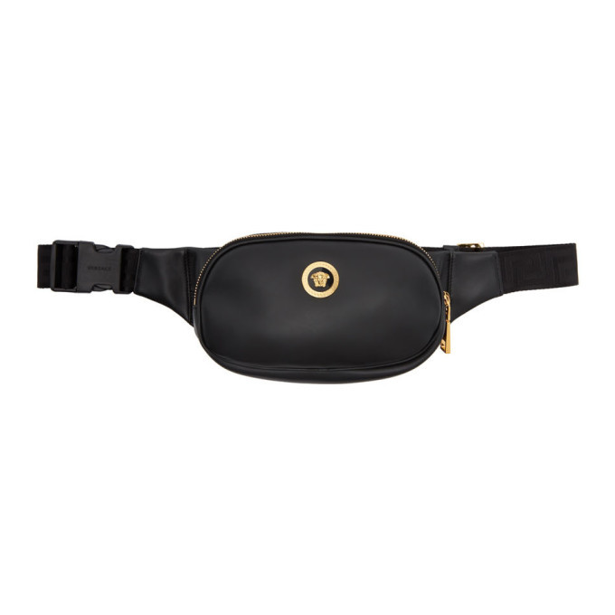 Photo: Versace Black and Gold Medusa Belt Bag