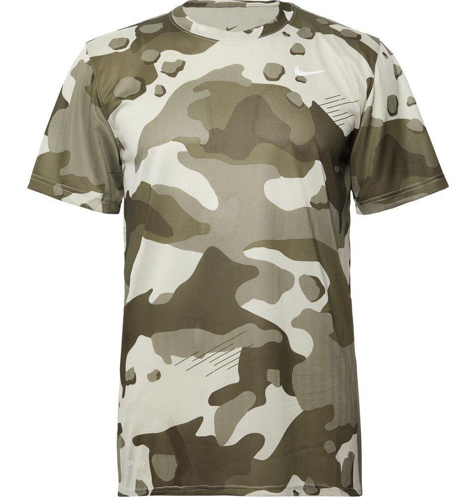 Photo: Nike Training - Camouflage-Print Dri-FIT T-Shirt - Army green