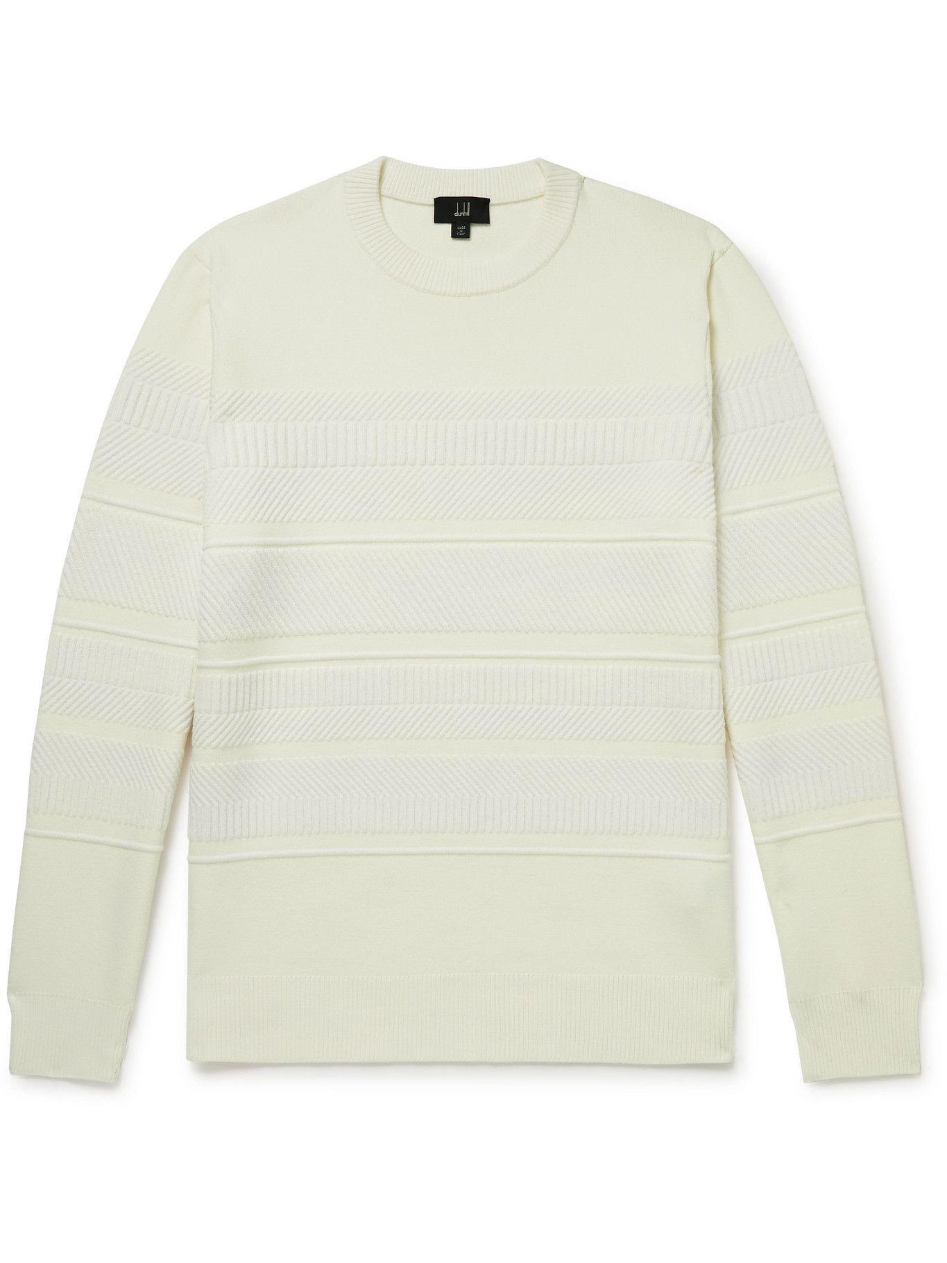 Dunhill - Gears Textured Wool-Blend Sweater - Neutrals