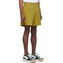 Acne Studios Yellow Emanuel Face Shorts
