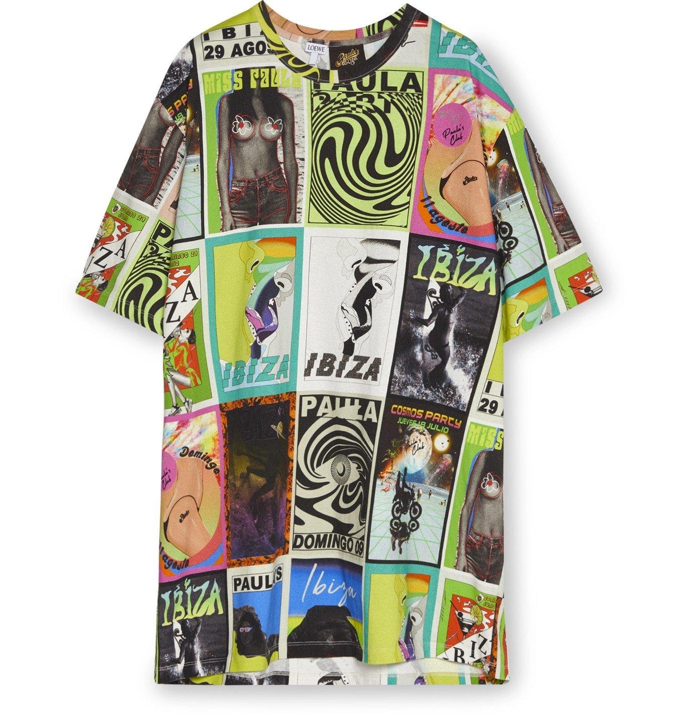 Photo: Loewe - Paula's Ibiza Oversized Printed Cotton-Jersey T-Shirt - Green