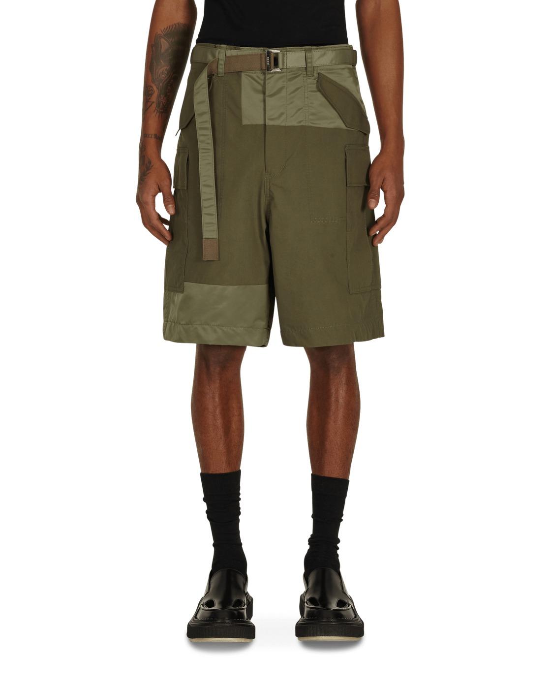 Sacai Oxford Cargo Shorts Khaki