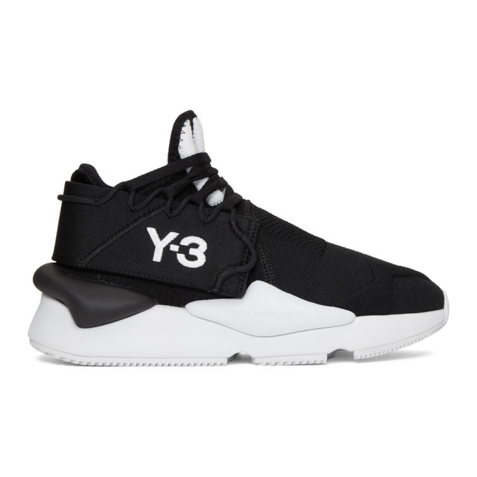 Y-3 Black Knit Kaiwa Sneakers