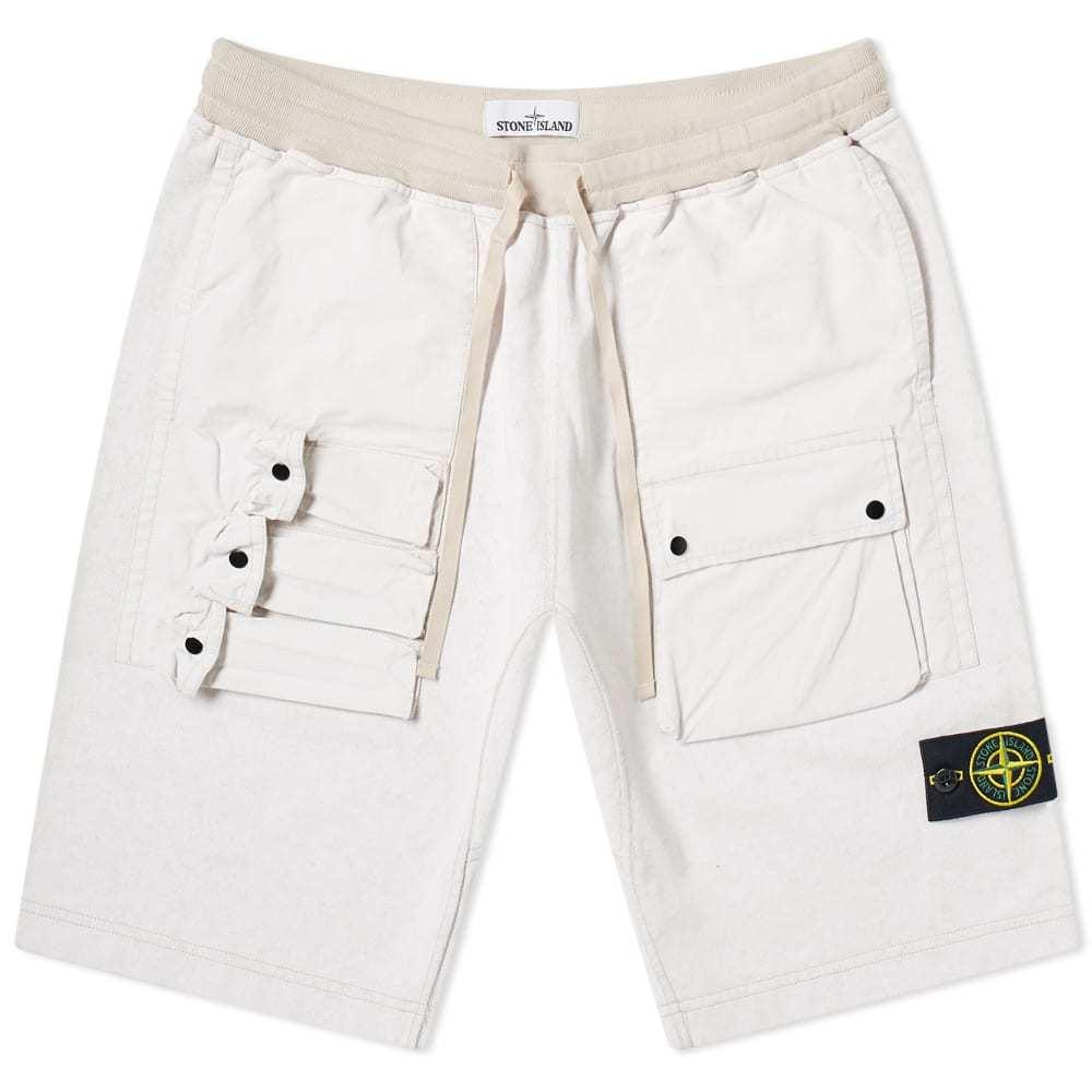 Photo: Stone Island Tela Plated Chalk Pocket Shorts