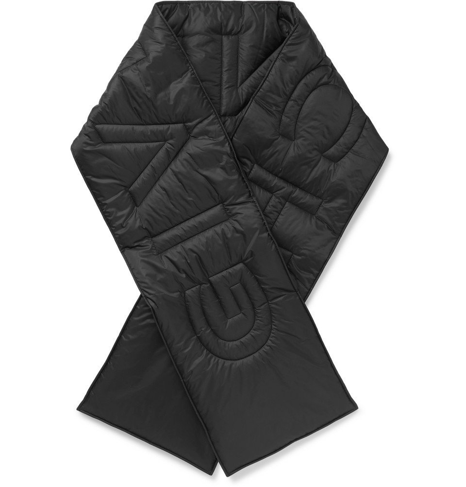 Photo: Givenchy - Logo-Detailed Quilted Shell Scarf - Black