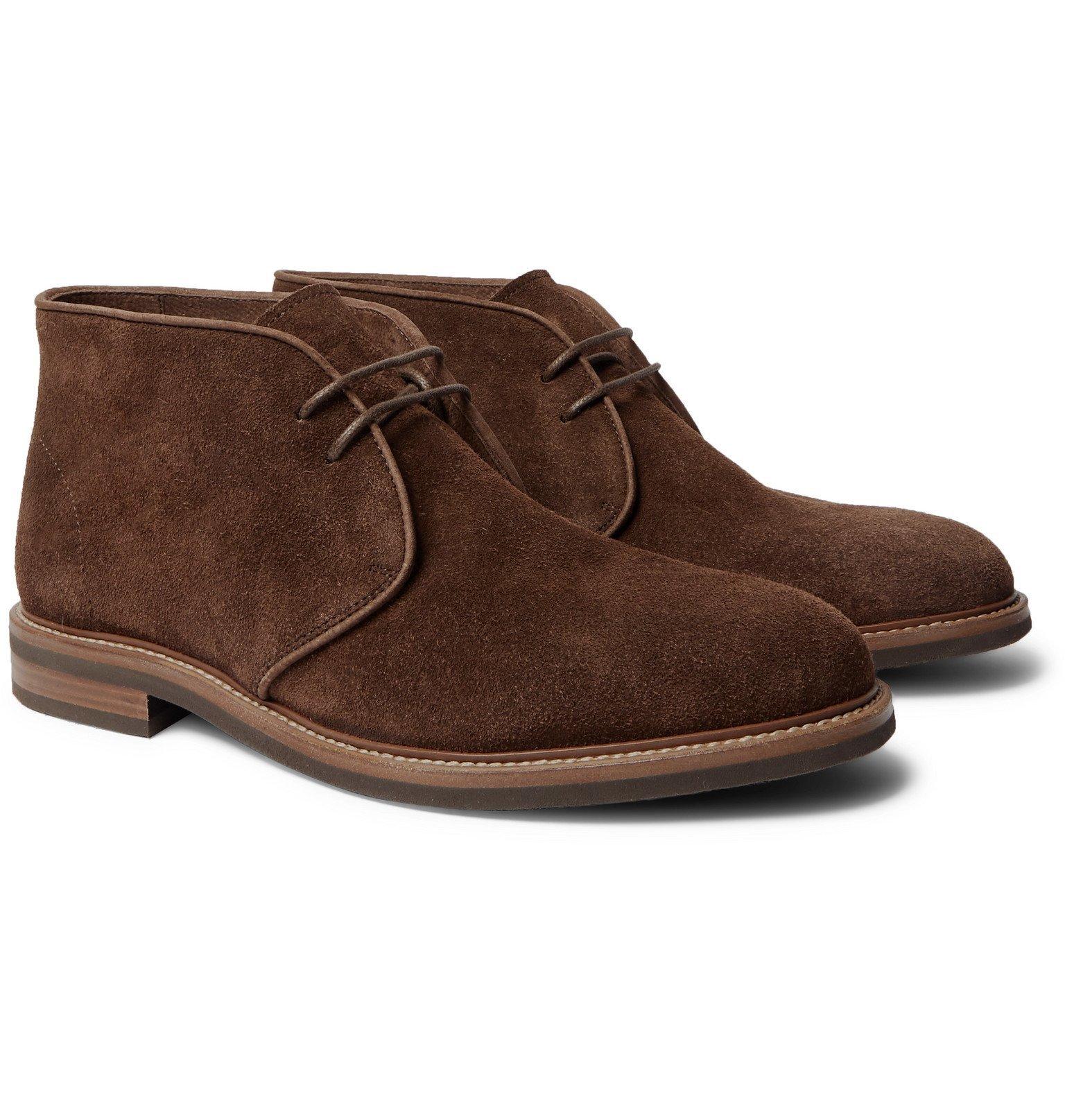 Photo: Brunello Cucinelli - Suede Desert Boots - Brown