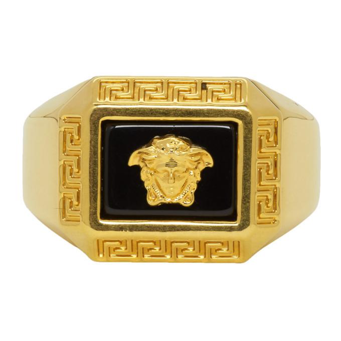 Photo: Versace Gold Medusa Square Ring