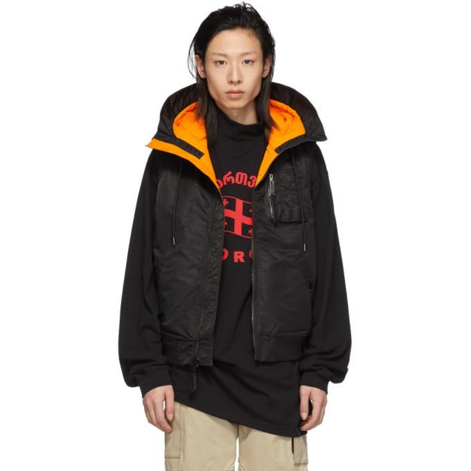 Photo: 1017 ALYX 9SM Black Hooded MA-1 Vest