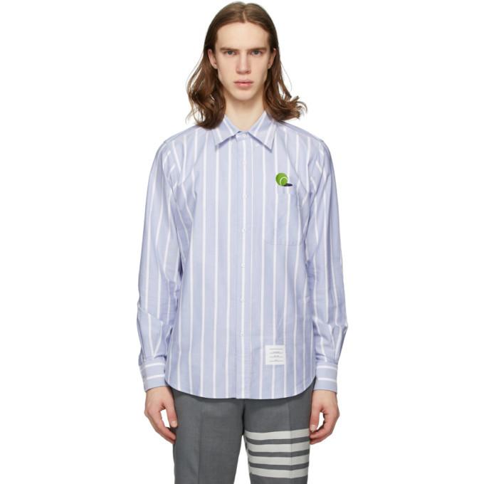 Photo: Thom Browne Blue Seersucker Tennis Ball Shirt