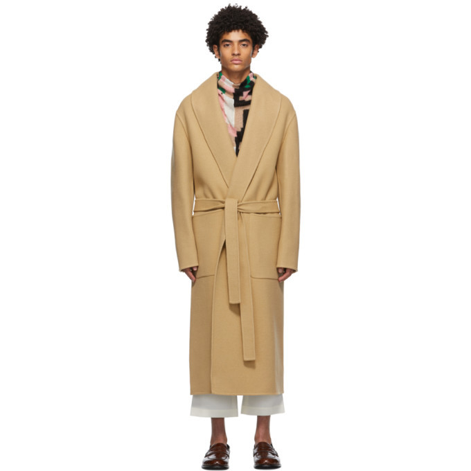 Photo: Loewe Tan Belted Cashmere Coat