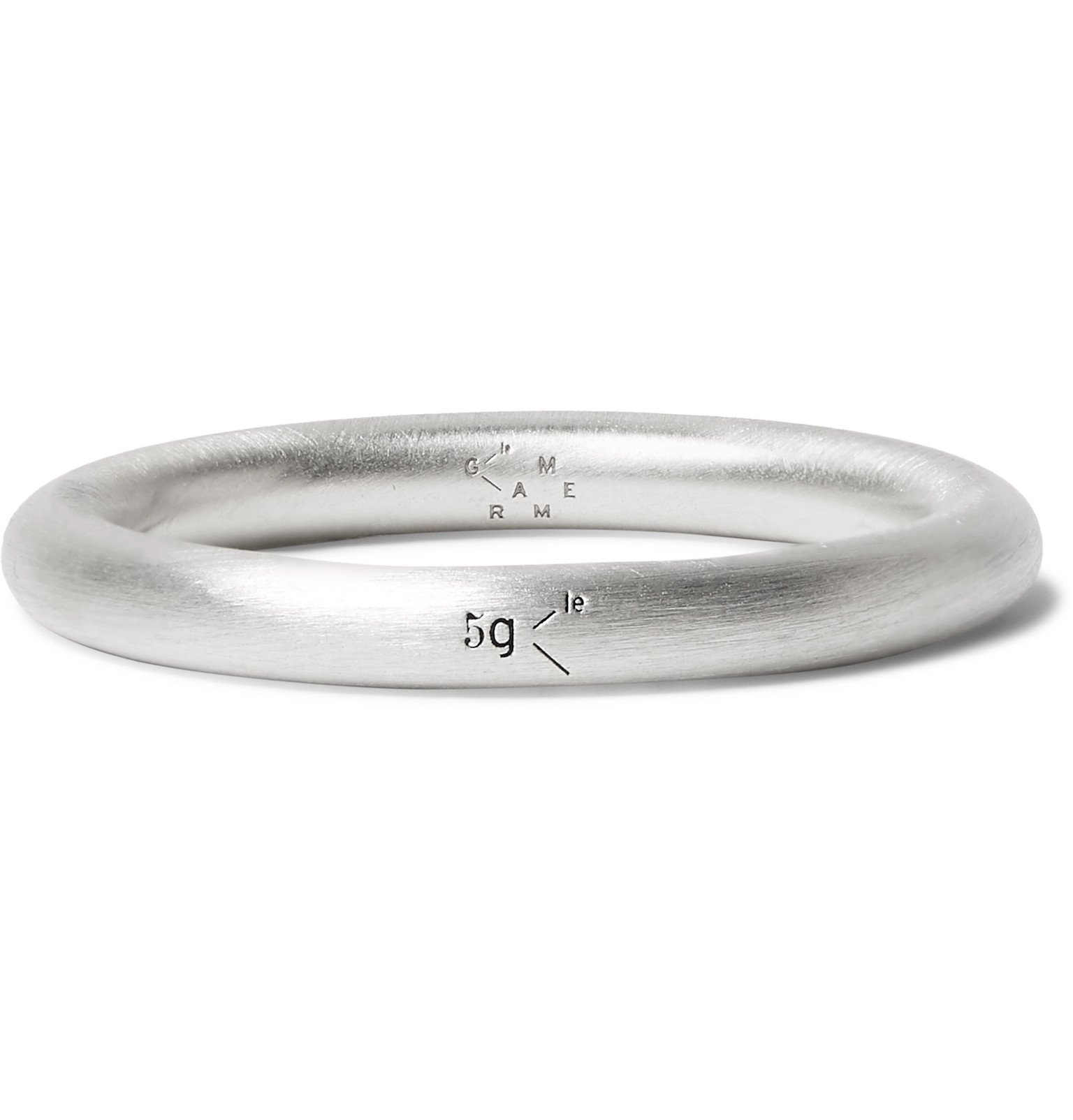 Photo: Le Gramme - Le 5 Brushed Sterling Silver Ring - Silver
