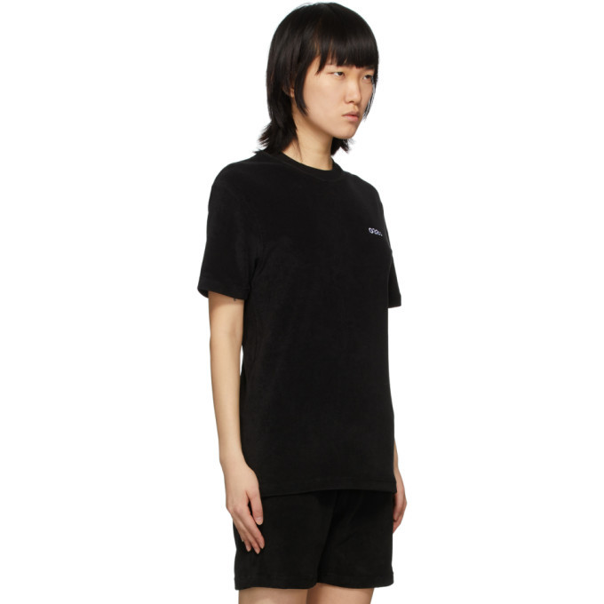032c Black Terry Logo Embroidery T-Shirt