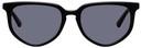 MCQ Black Acetate Round Sunglasses