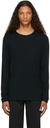 Veilance Black Wool Frame Long Sleeve T-Shirt