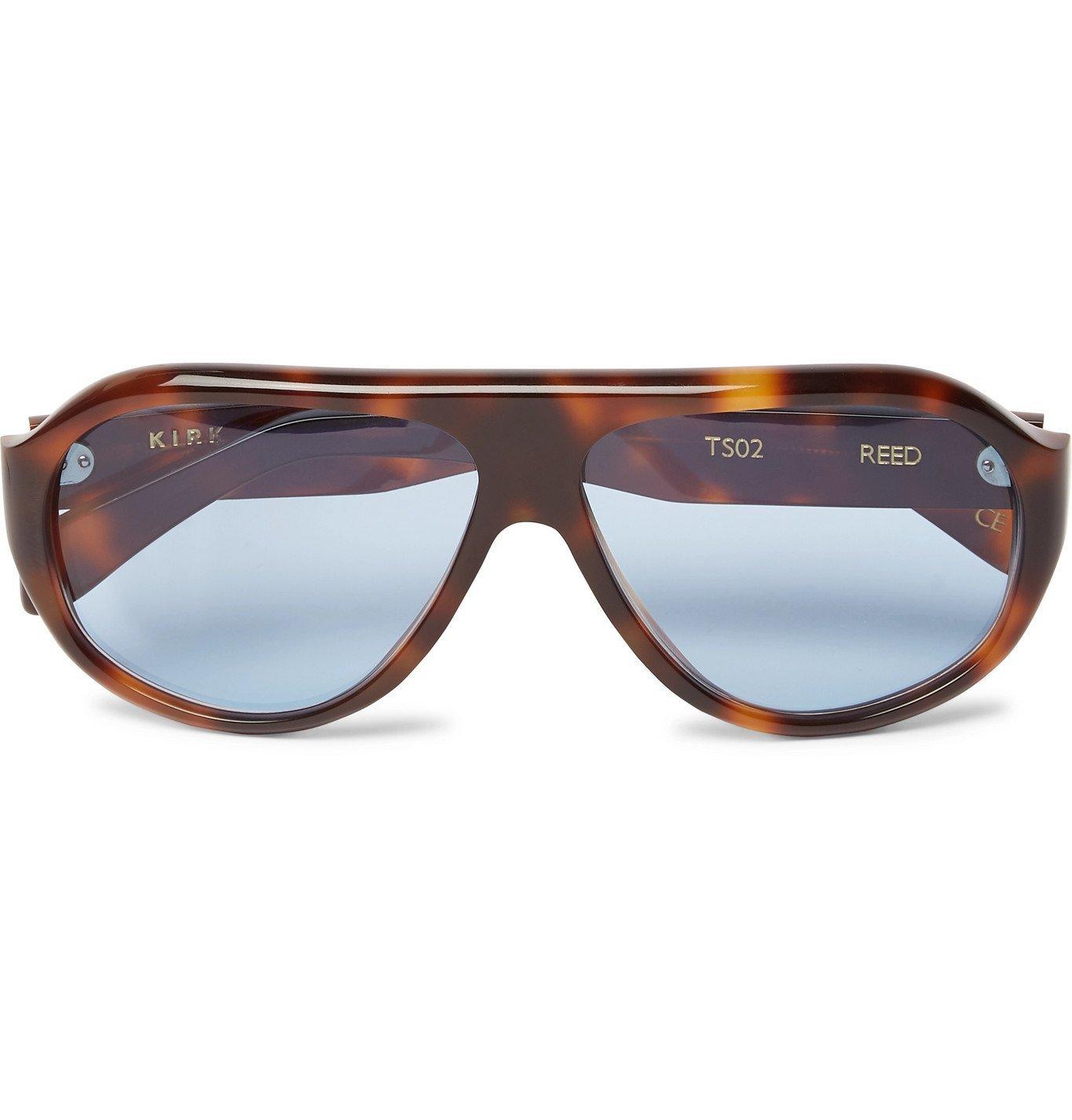 Photo: Kirk Originals - Reed Aviator-Style Tortoiseshell Acetate Sunglasses - Brown