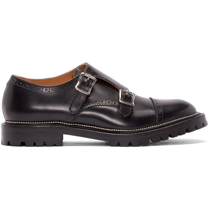 Photo: Kolor Black Leather Monkstrap Brogues