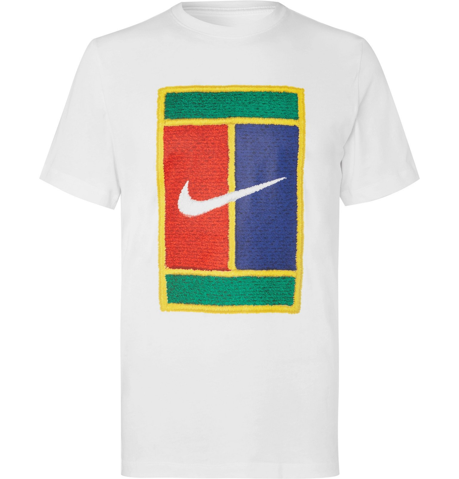 Photo: Nike Tennis - NikeCourt Logo-Print Cotton-Jersey T-Shirt - White
