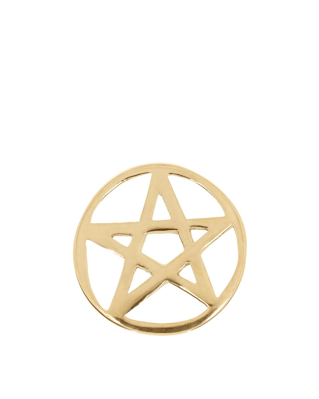 Aries Satan Star Charm Gold