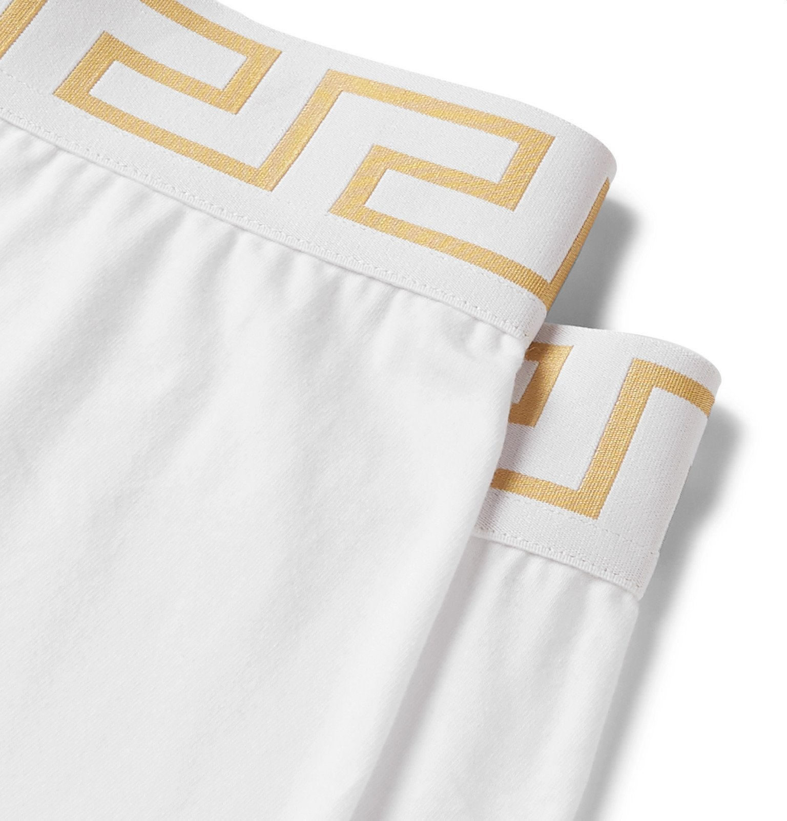 Versace - Two-Pack Stretch-Cotton Boxer Briefs - White