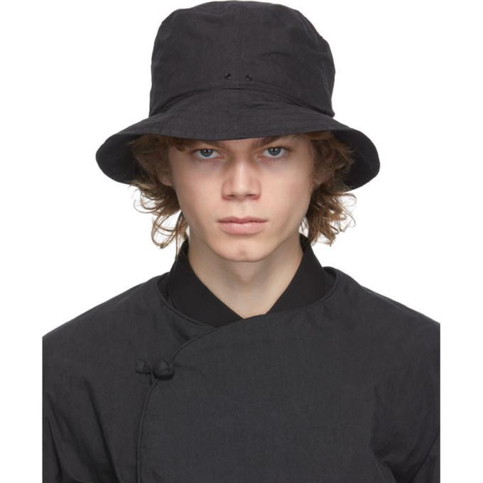 Photo: Snow Peak Black Twill Bucket Hat