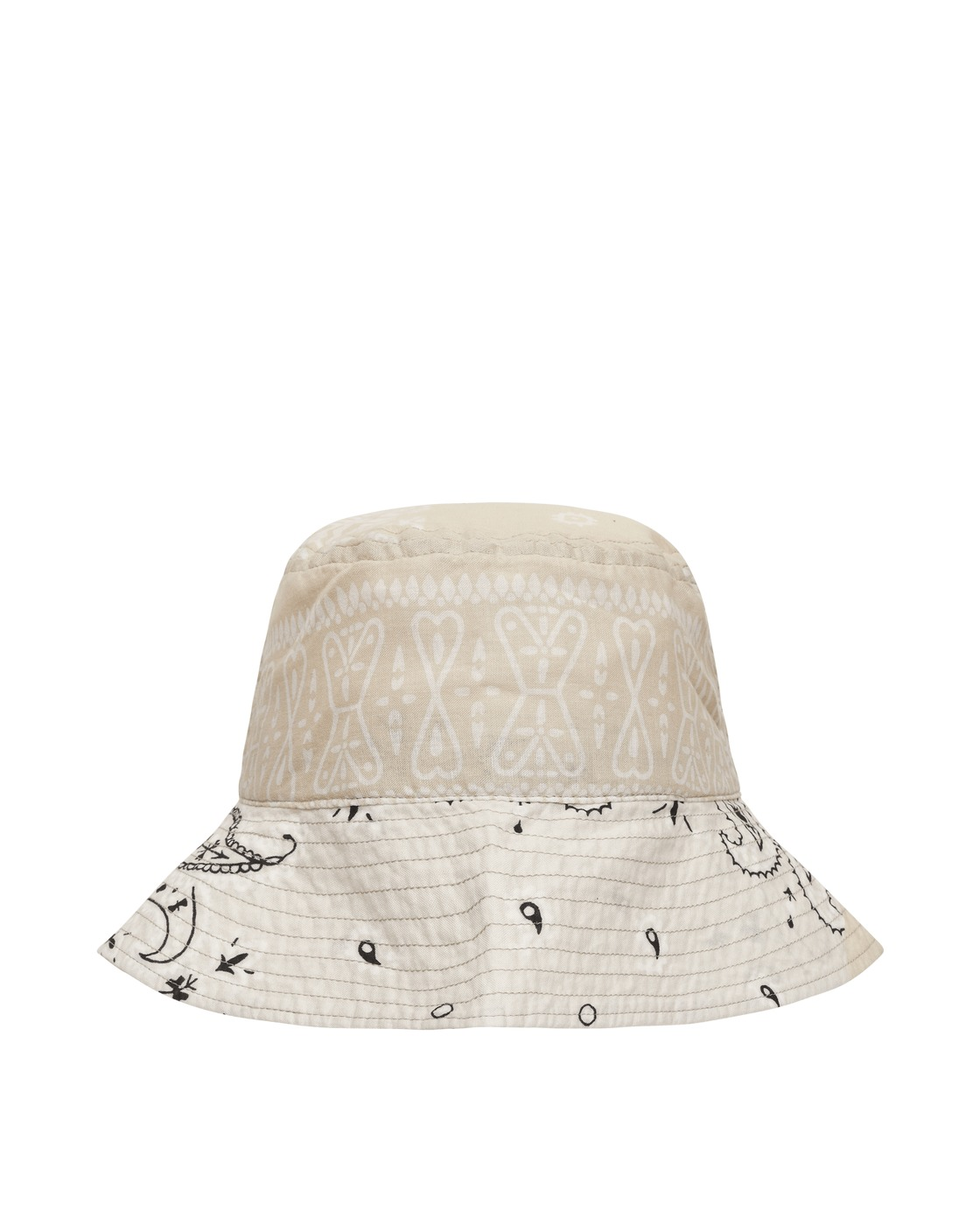 Kapital Bandana Patchwork Bucket Hat White