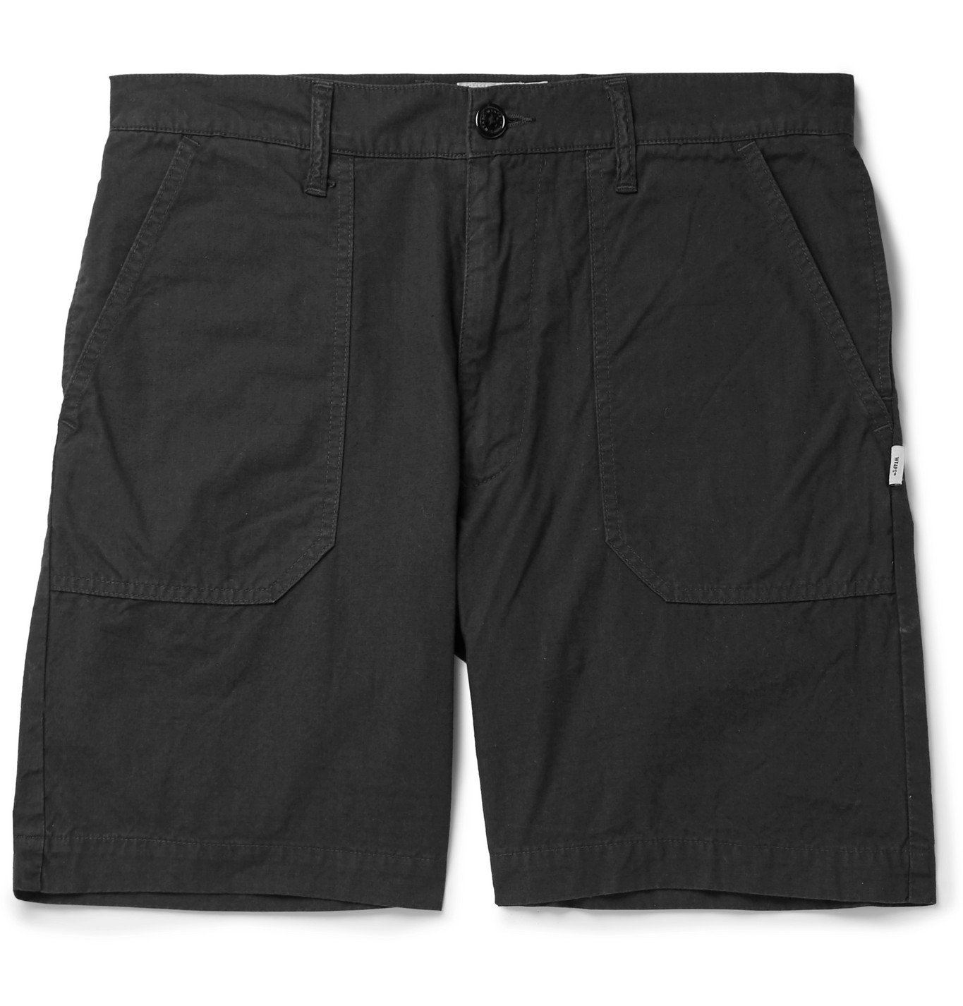 Photo: WTAPS - Buds Wide-Leg Cotton-Ripstop Shorts - Black