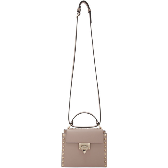 Photo: Valentino Pink Valentino Garavani Rockstud Small Top Handle Bag