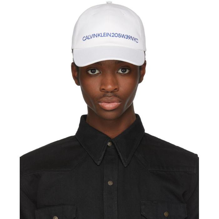 Photo: Calvin Klein 205W39NYC White Logo Cap