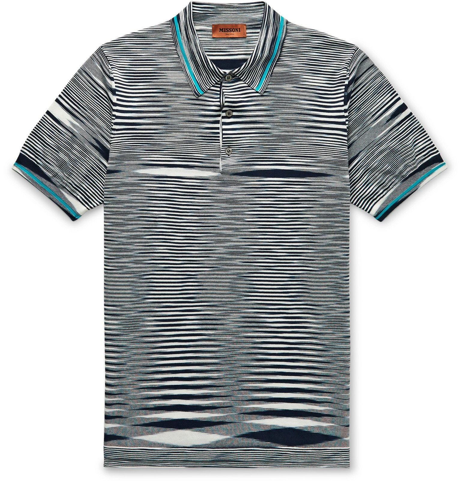 Photo: Missoni - Slim-Fit Space-Dyed Cotton Polo Shirt - Blue