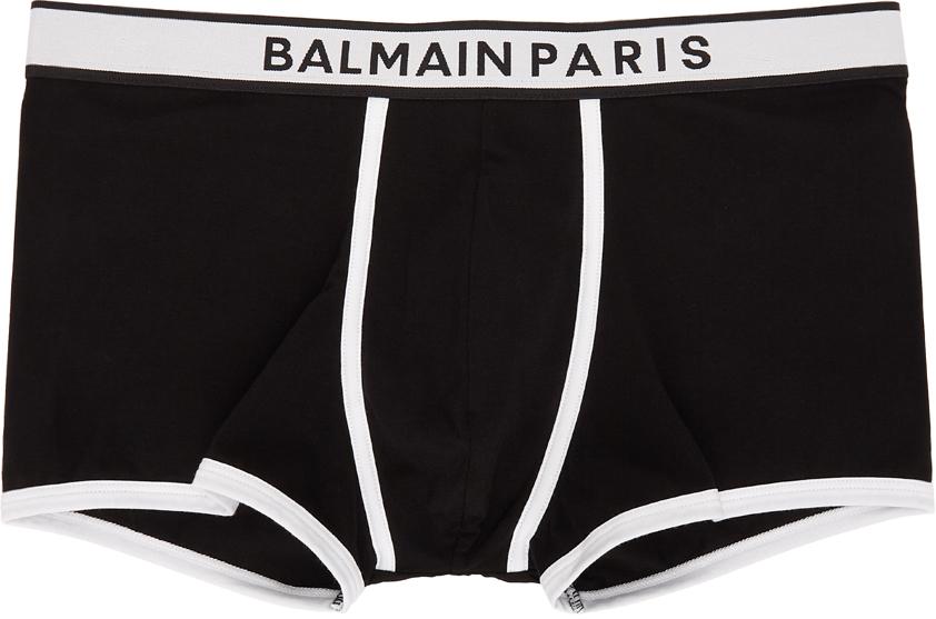 Photo: Balmain Black & White Logo Boxers