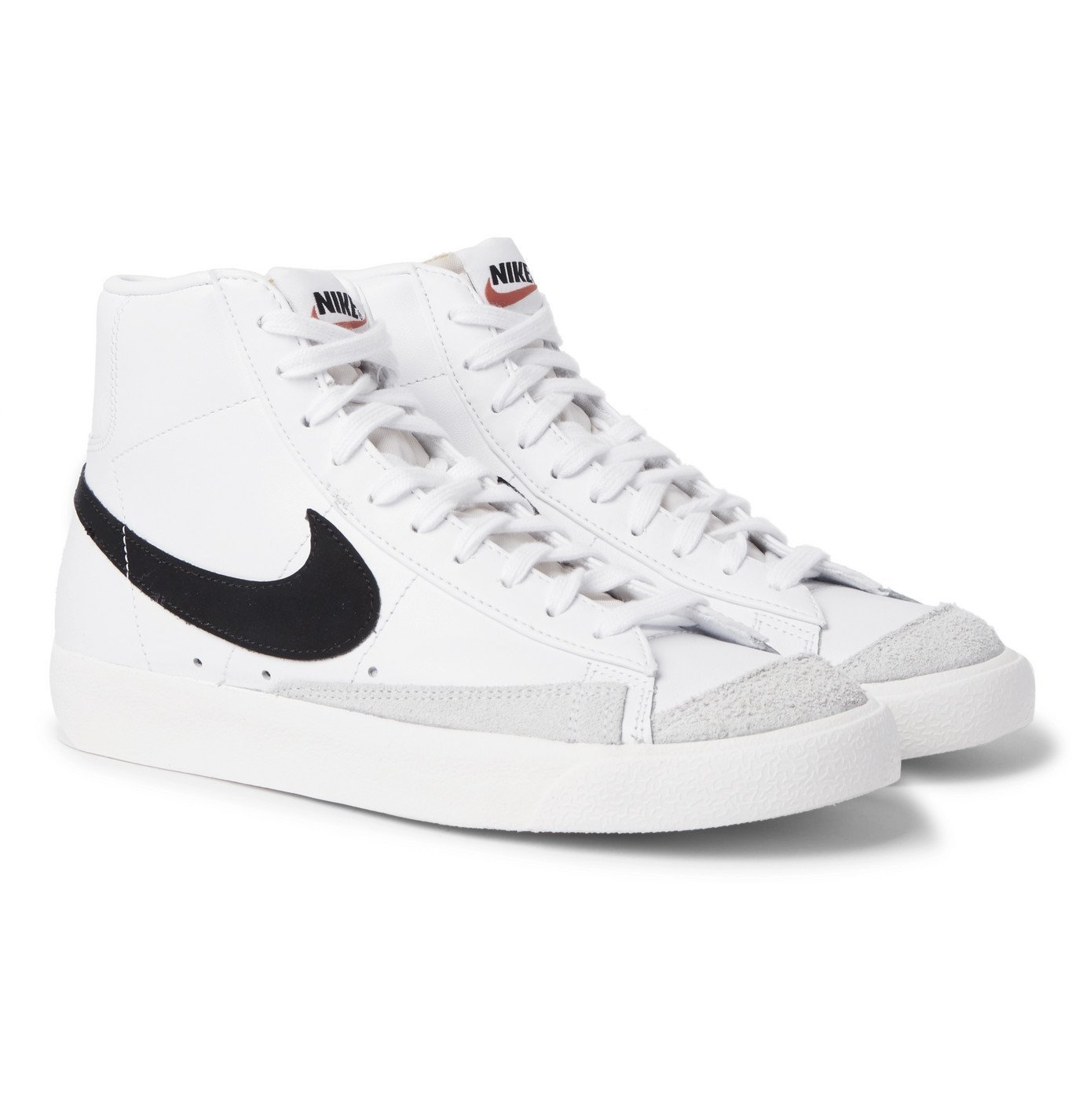 Photo: Nike - Blazer Mid '77 Suede-Trimmed Leather Sneakers - White