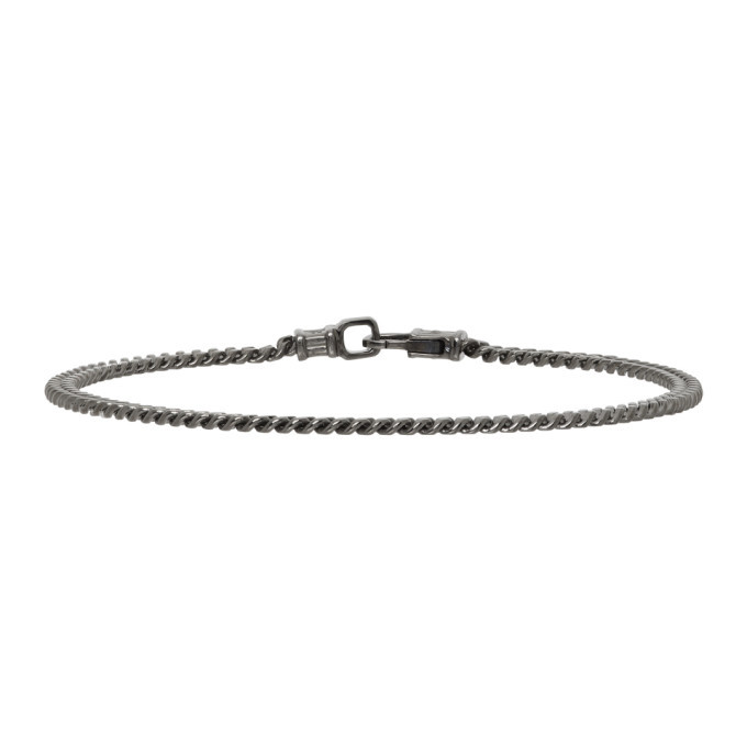 Photo: Tom Wood SSENSE Exclusive Silver Curb Chain Bracelet