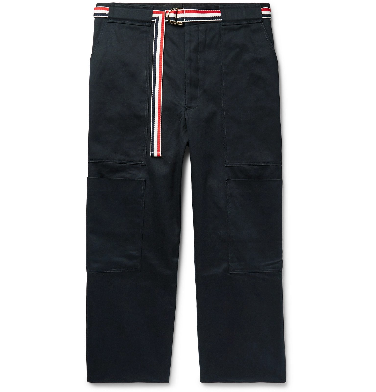 Photo: Thom Browne - Belted Cotton-Twill Cargo Trousers - Blue