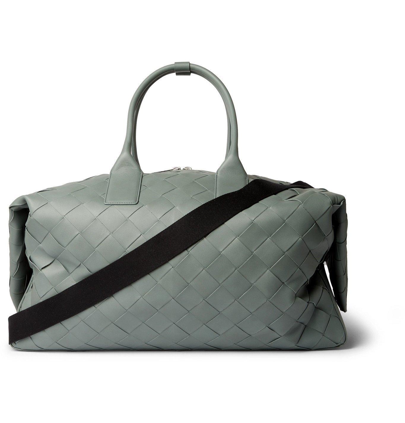 Photo: Bottega Veneta - Intrecciato Leather Holdall - Blue