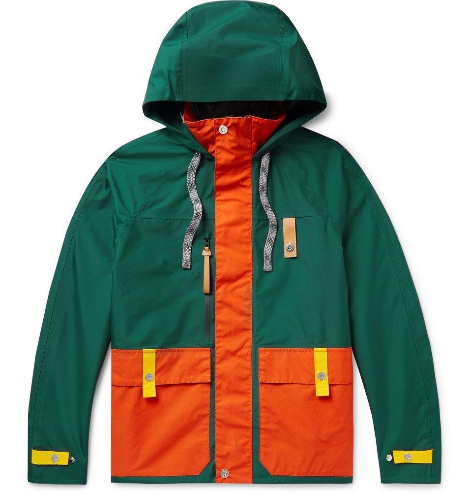 Photo: Loewe - Eye/LOEWE/Nature Leather and Webbing-Trimmed Waterproof Shell Hooded Parka - Orange