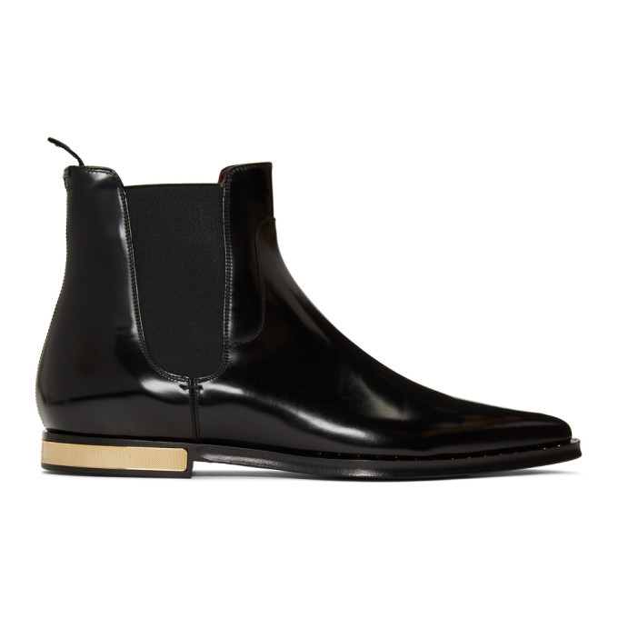 Photo: Dolce and Gabbana Black Hardware Heel Boot