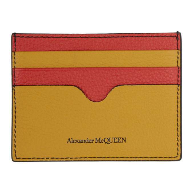 Photo: Alexander McQueen Multicolor Sunflower Card Holder