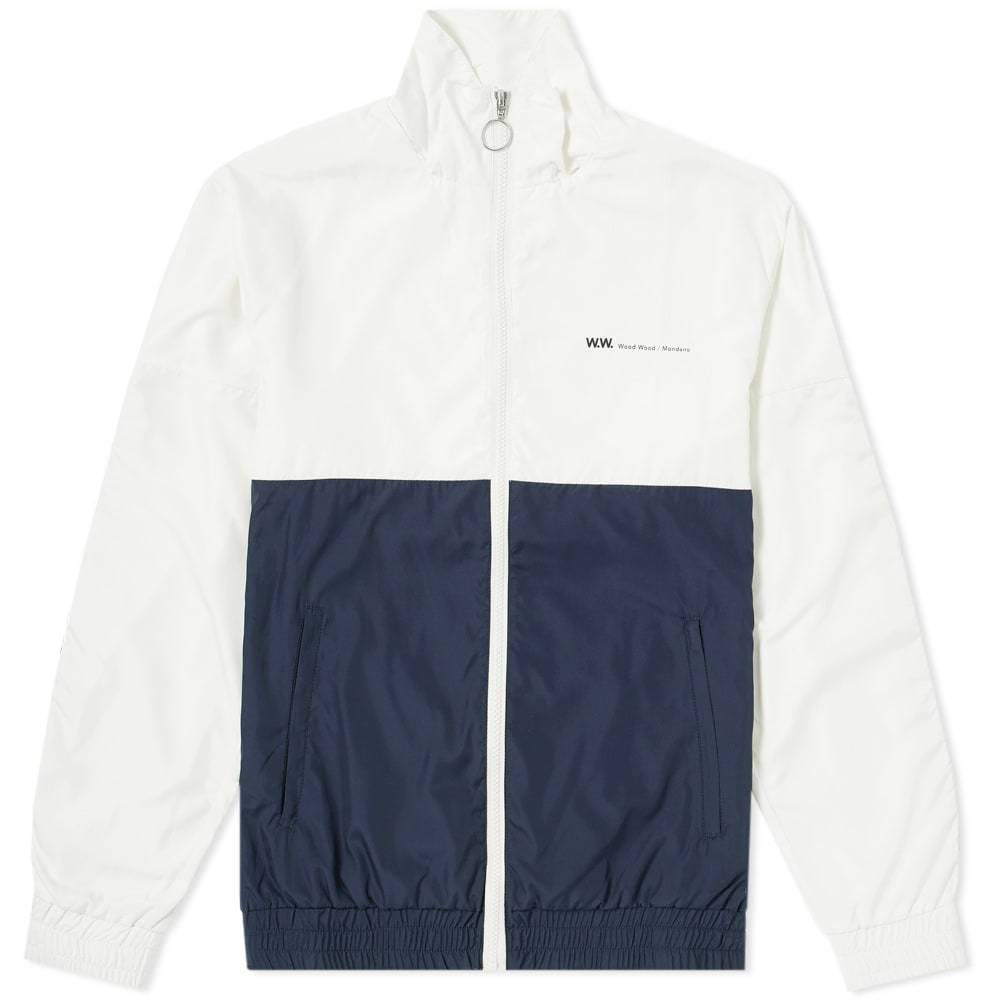 Wood Wood Homer Taped Track Jacket Off White & Navy