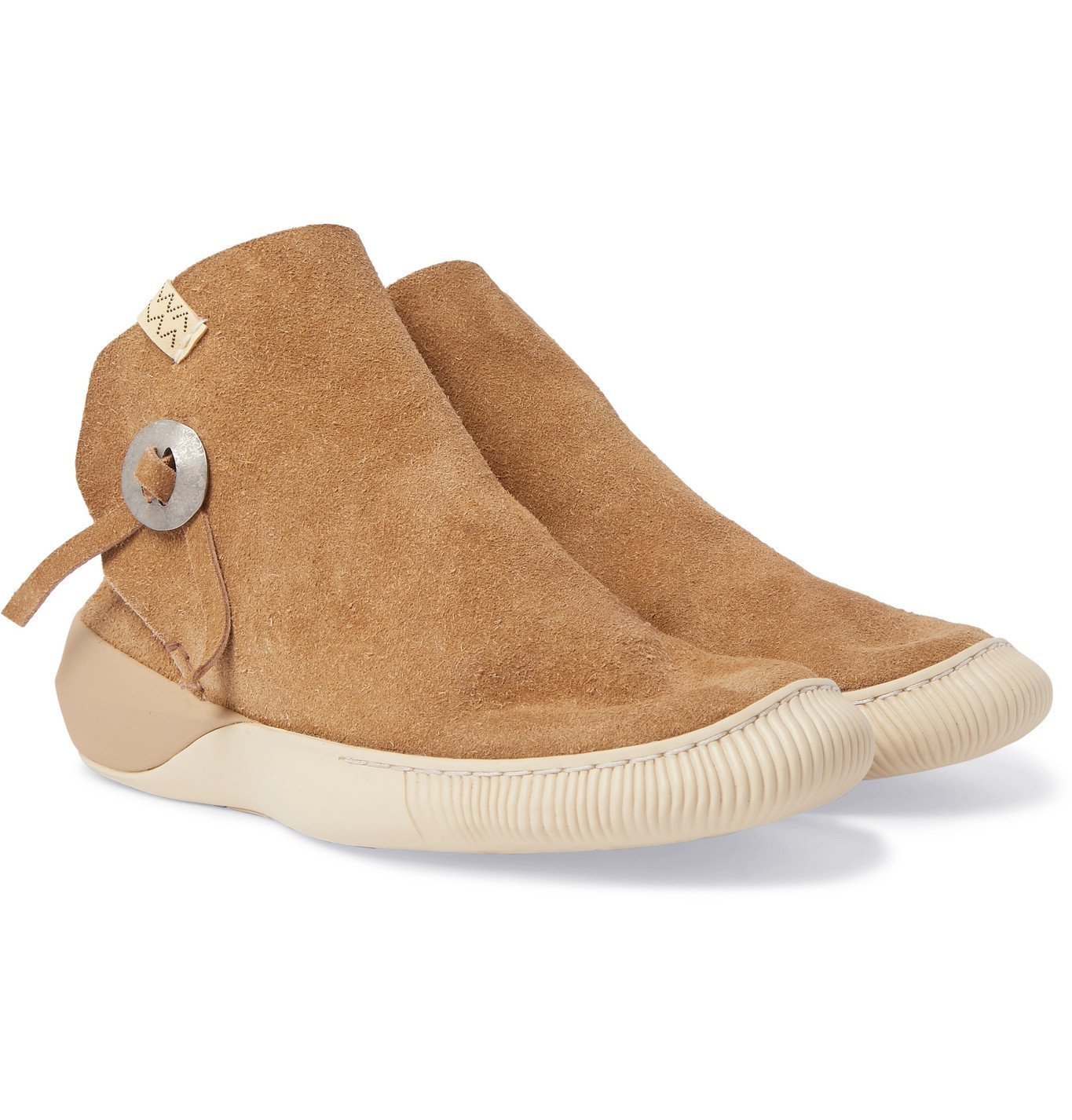 Photo: visvim - Gila Moc Mid II Suede High-Top Sneakers - Brown