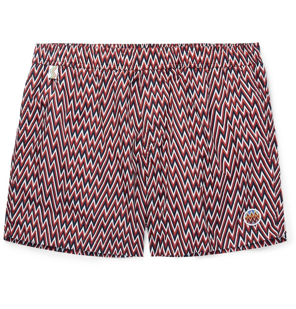 Photo: Missoni - Mid-Length Printed Swim Shorts - Red