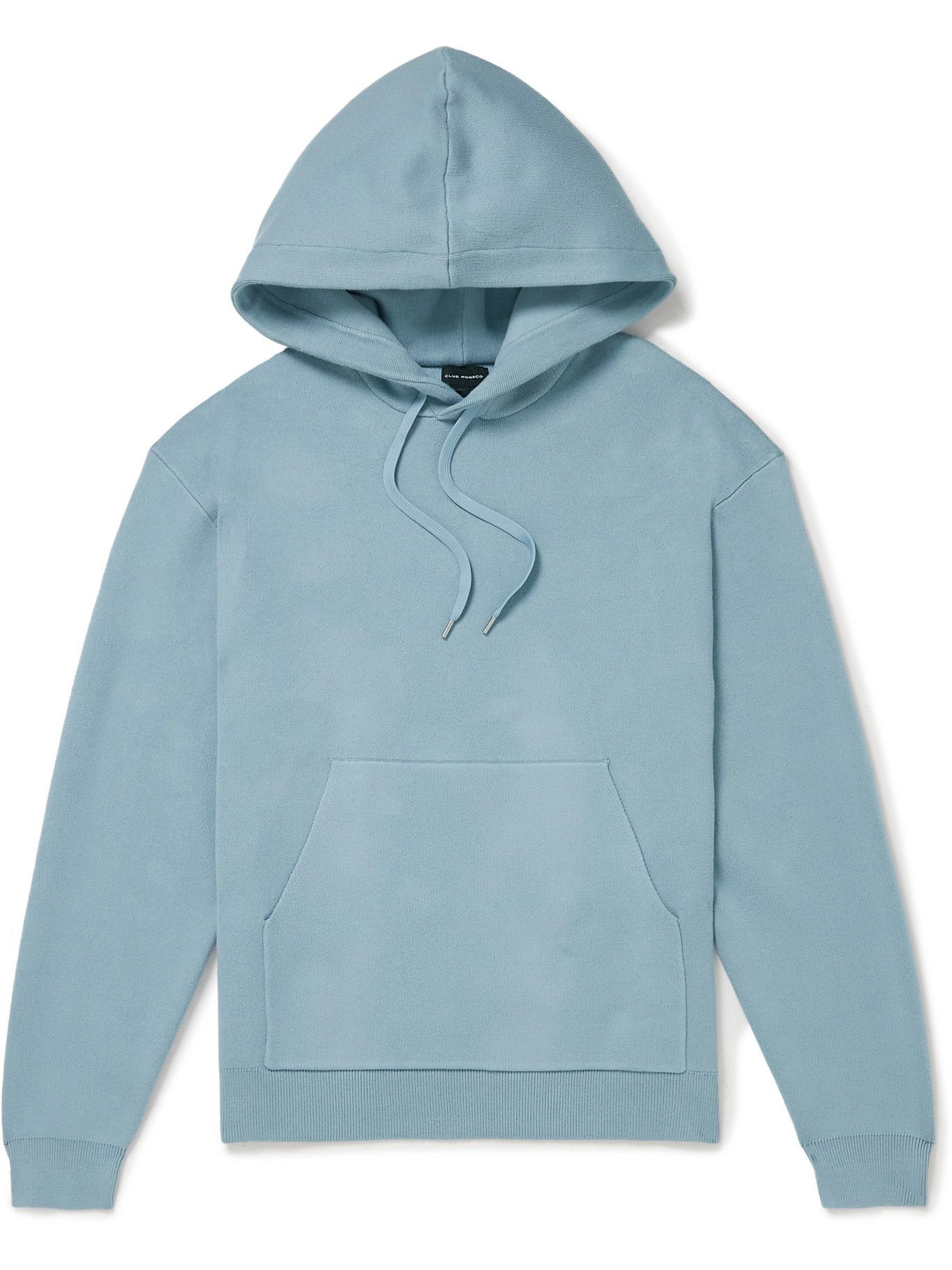Photo: Club Monaco - Cotton-Blend Hoodie - Blue