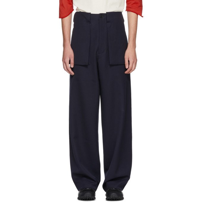 Photo: JW Anderson Navy Large Pocket Trousers