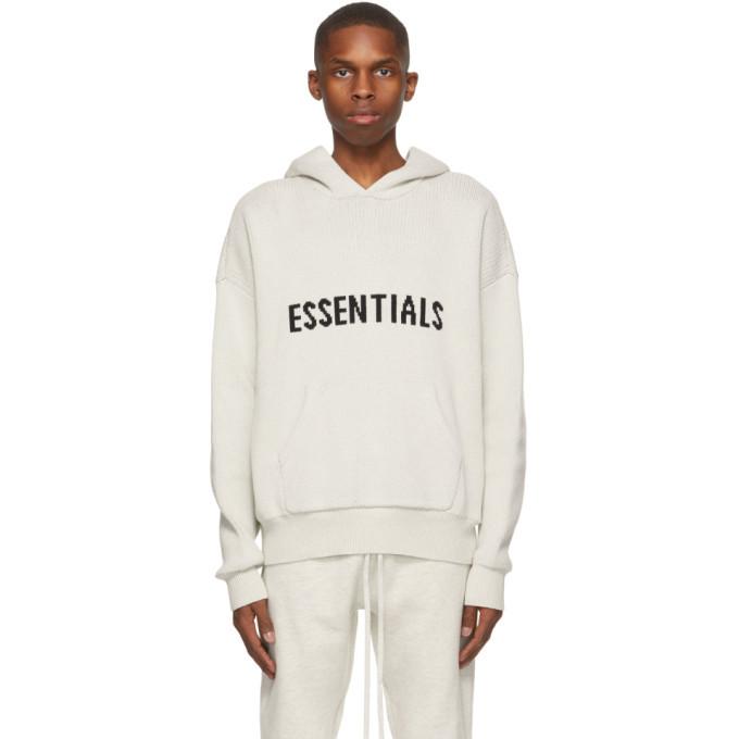 Photo: Essentials Grey Knit Logo Hoodie