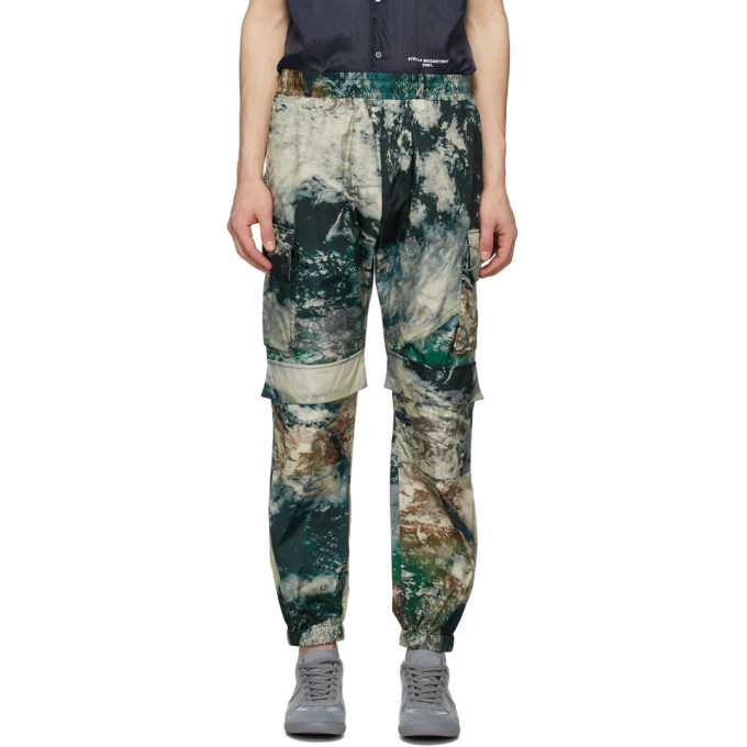 Photo: Stella McCartney Multicolor Earth Satellite Print Taylor Cargo Pants