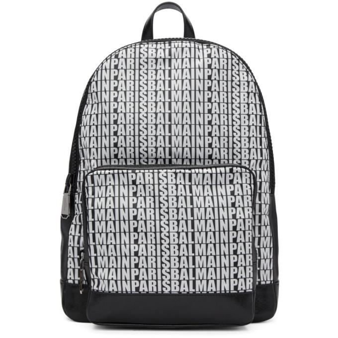 Photo: Balmain Black Leather and Nylon Beast Backpack