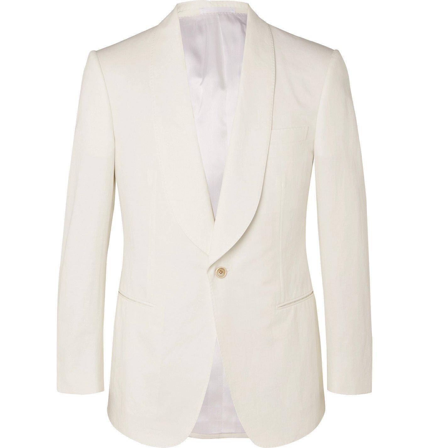 Photo: Kingsman - Slim-Fit Cotton and Linen-Blend Blazer - Neutrals