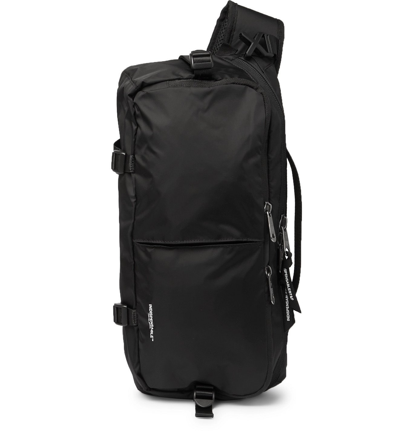 Photo: Indispensable - Webbing-Trimmed Econyl Sling Backpack - Black